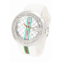 Perfect GUCCI Woman Men Fashion Rhinestone Quartz Watches Wrist Watch