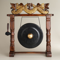 Large Wooden Indonesian Gong - World Market