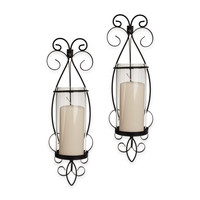 Danya B™ San Remo Hurricane Wall Sconces in Black (Set of 2)