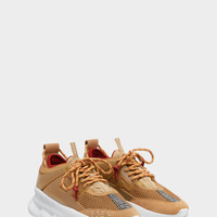 Versace Chain Reaction Sneakers - Tan for Men | US Online Store