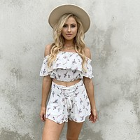 Always on Vacay Floral Set in Ivory