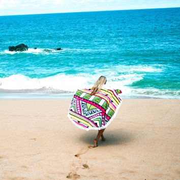 The Tropicana Round Towel by The Round Towel Co