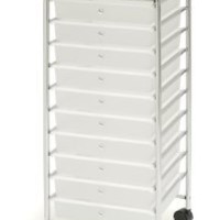 Seville Classics 15.5-Inch by 15.4-Inch by 38.2-Inch 10 Drawer Organizer Cart