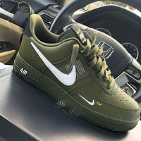 NIKE AIR FORCE 1 07 LOW new men and women casual fashion wild sports shoes Green