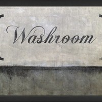 The Artwork Factory Washroom Decorative Sign