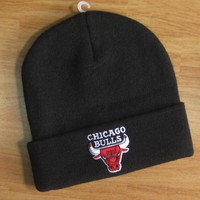 Chicago Bulls Hiphop Women Men Beanies Winter Knit Hat Cap