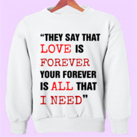 Sleeping With Sirens Lyrics Crewneck