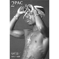 TUPAC POSTER 2Pac Shakur Smoking RARE HOT NEW 24x36