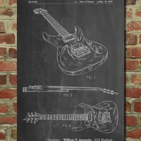 Ibanez Pro 540RBB Electric Guitar Patent Poster