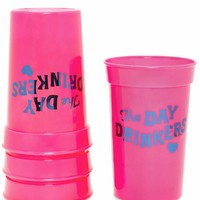The Day Drinkers Plastic Party Cup Set