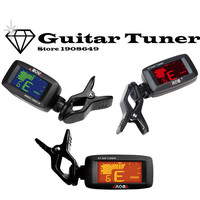Aroma AT-200D Portable Guitar Tuner Color Screen Digital Tuner Clip On Design for Chromatic Guitar Bass Ukulele Violin