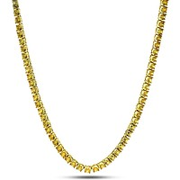 5mm, Canary Yellow Single Row Tennis Chain
