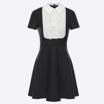 Valentino Crêpe Couture Dress, Dresses for Women - Valentino Online Boutique