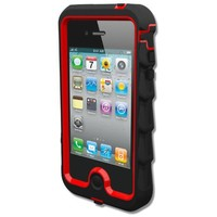 Gumdrop Cases Drop Tech Series Case for Apple iPhone 4 & 4S (AT&T, Verizon, & Sprint), Black-Red, (DS4G-BLK-RED)