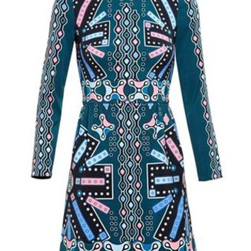 PETER PILOTTO   Printed Crepe Dress   brownsfashion.com   The Finest Edit of Luxury Fashion   Clothes, Shoes, Bags and Accessories for Men & Women