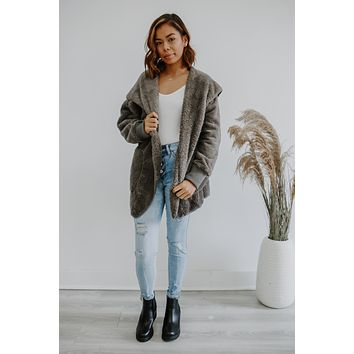 Cozy Nights Cardigan - Charcoal
