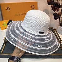 Dior Newest Popular Women Men Sports Uv Protection Sun Hat Visor Hat Cap-30