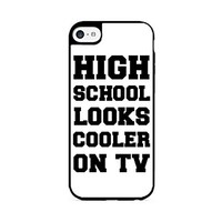 High School Looks Cooler On TV - Typography - Hipster - Swag - iPhone 6 Black Case (C) Andre Gift Shop
