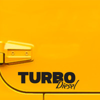 Turbo Diesel Sticker Vinyl Decal Coal Roller Truck Decal For Ford F150 Dodge Ram