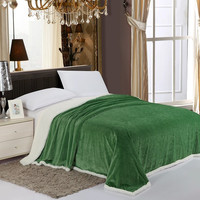 Cozy Home Luxurious Reversible Sherpa Lining Carved Velboa Comforter - King (Garden Green)