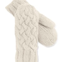 The North Face Wool-Blend Cable-Knit Mittens