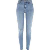 River Island Womens Light authentic wash ripped Molly jeggings