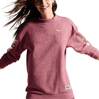Stadium Mock Neck Pullover - PINK - Victoria's Secret