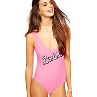 Barbie Print Backless Swimwear