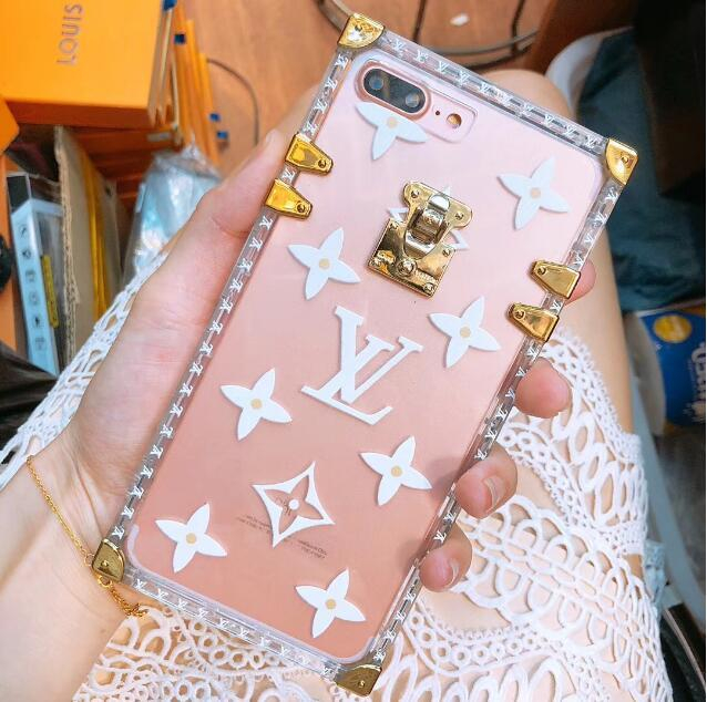 Image of LV Louis Vuitton Fashion Personality Transparent Jelly Crystal iPhone Phone Cover Case For iphone 6 6s 6plus 6s-plus 7 7plus 8 8plus X(3-Color) Black I12216-1