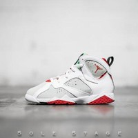 DCCKL8A Beauty Ticks Nike Air Jordan 7 Retro Bp Hare White/true Red-lght Slvr-trmln Basketball Shoes 304773 125