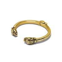 Women's Adorned Panther Bangle in Gold