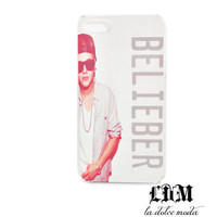 justin beiber BELIEBER iphone 4 iphone 5 iphone 4s hard plastic case for the true jbeebs fan
