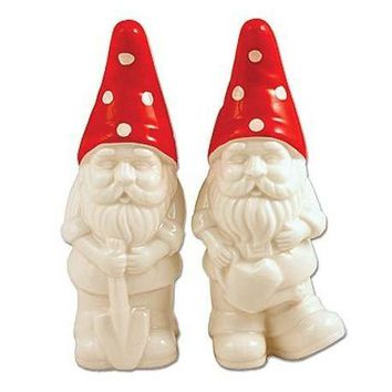 Retro Garden Gnomes Salt & Pepper Shaker Set
