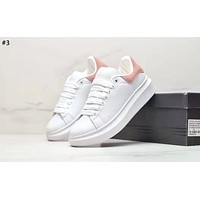 Alexander McQueen 2019 new thick-soled versatile white shoes #3