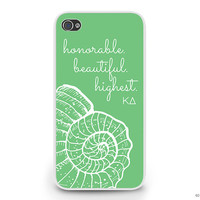 KD Kappa Delta Nautilus Shell Phone Case Sorority Cell Phone Case Cover for iPhone or Galaxy