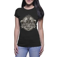 Groot Beer Guardians of the Galaxy Rc Tshirt for Women Black and White