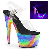 "Adore 708GXY Galaxy Neon UV Platform 7"" High Heel Shoes"