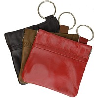 New Genuine Leather Coin Change Purse With Elastic Closure