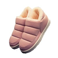 new winter shoes women unisex pu leather snow boots women flats waterproof boots warm ankle boots fashion shoes women