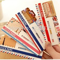 1PC/Lot NEW vintage travel London & Paris & animals sticky notepad Memo message post marker Removable adhesive paper