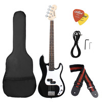 Black and White Ammoon Wood Electric Bass Guitar