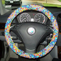 Bright and Colorful Steering Wheel Cover