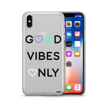 Good Vibes Only - Clear TPU - iPhone Case