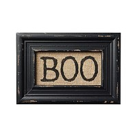 BOO! Printed Burlap Framed Wall Decor - Halloween