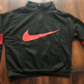 '' NIKE '' HOT SALE Round neck letters long sleeve sweater