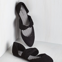 Three Strides and You're Haute Flat in Black