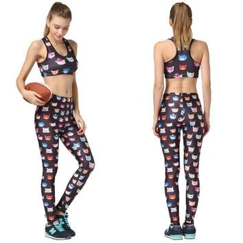 Gym Sportswear Ladies Yoga Pants Sportswear Set [6572468359]