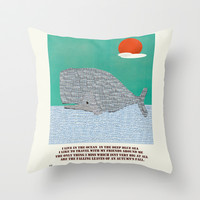 The Ocean  Throw Pillow by bri.buckley