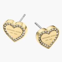 Women's Michael Kors Heart Stud Earrings