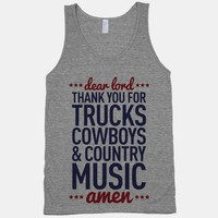 Dear Lord Thank You For Trucks Cowboys & Country Music